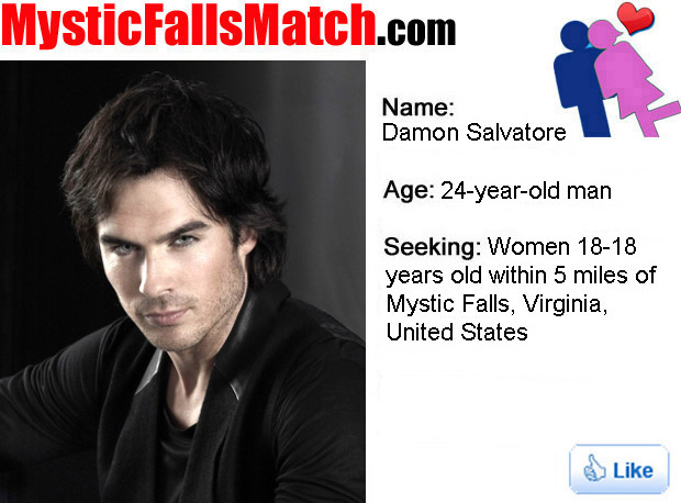 Damon Salvatore's MysticFallsMatch.com Profile