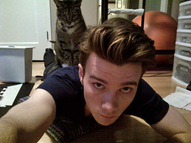 Chris Colfer Gets Squished By His Cat — OMG Photo of the Day!