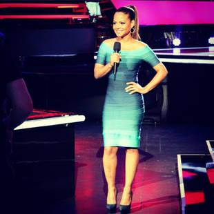 Christina Milian Wears Herve Leger Bandage Dress on The Voice Season 3 (PHOTO)