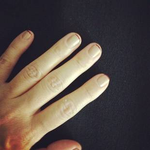 Kourtney Kardashian's Red Tip Manicure: Hot or Not? (PHOTO)
