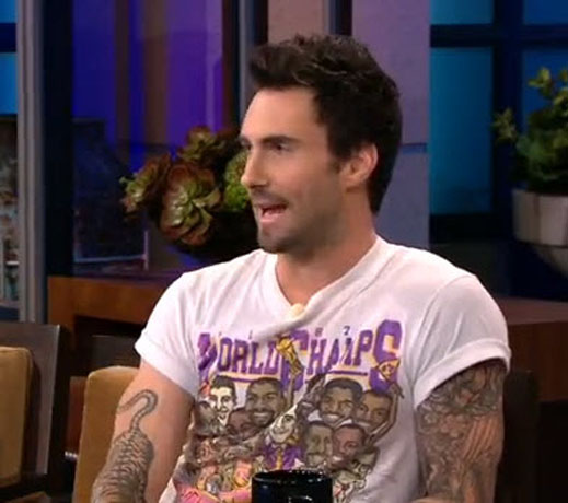 Adam Levine Shows Off Sexy New Mustache on The Tonight Show! (VIDEO)