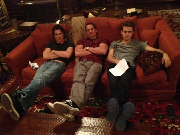 Ian Somerhalder and Paul Wesley Are Exhausted From Filming: Vampire Diaries Cute Pic of the Day