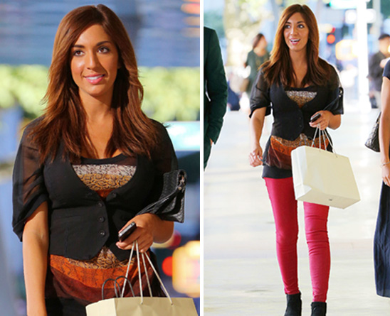Farrah Abraham Steps Out for New York Fashion Week in Bright Red Pants: Hot or Not (PHOTOS)