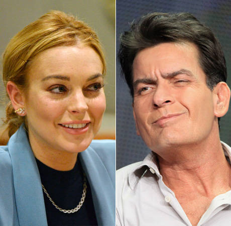 Lindsay Lohan and Charlie Sheen Are Having Sex … For a Movie!