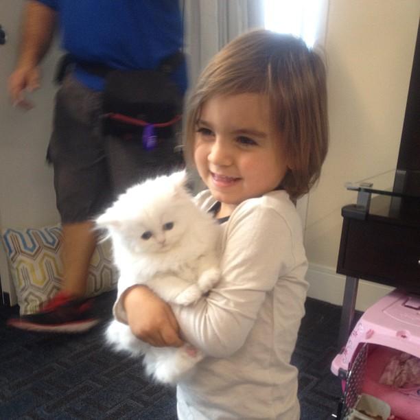 Mason Disick Cuddles Up to Kim Kardashian's New Kitten: Cute Pic of the Day!