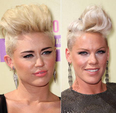 Miley Cyrus vs. P!nk at the 2012 VMAs: Who Wore the Blond Pompadour Best? (PHOTOS)