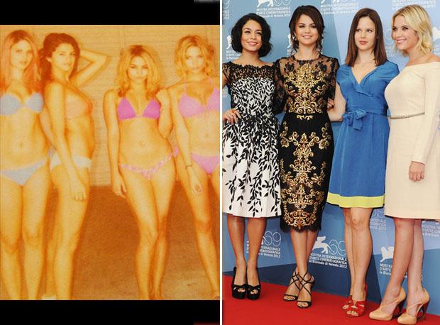 The Spring Breakers Girls Get Fancy: Bikini Bods vs. Red Carpet Chic (PHOTOS)