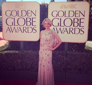 Ali Fedotowsky Stuns In Nude Gown at 2013 Golden Globes (PHOTOS)