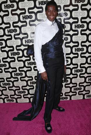 J. Alexander Wears a Crazy Toga Getup at the Golden Globes: Hot or Not? (PHOTO)