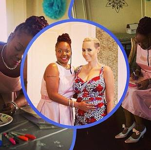 Amber Rose Celebrates 29th Birthday at Her Baby Shower — While Showing Off a Ton of Cleavage! (PHOTOS)