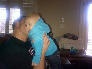 Baby Kash Cheers Up Dad Kroy Biermann After the Falcons Lose a Crucial Game (PHOTO)