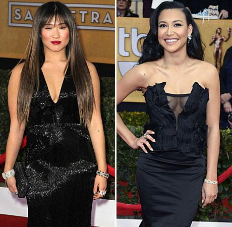 Naya Rivera vs. Jenna Ushkowitz: Whose Cleavage-Baring Dress Is Best?
