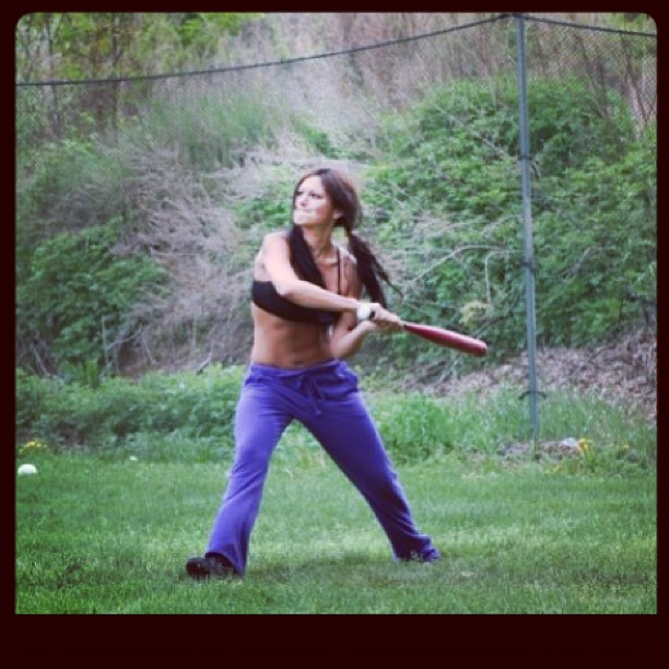 JWOWW Goes Shirtless While Playing the Field! (PHOTO)