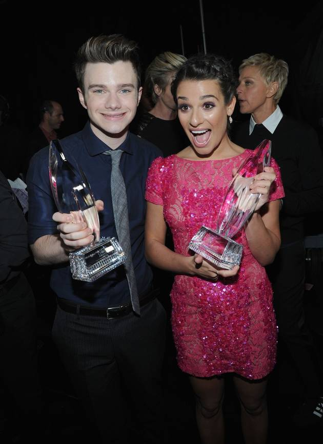 Lea Michele and Chris Colfer Win at the 2013 People's Choice Awards!