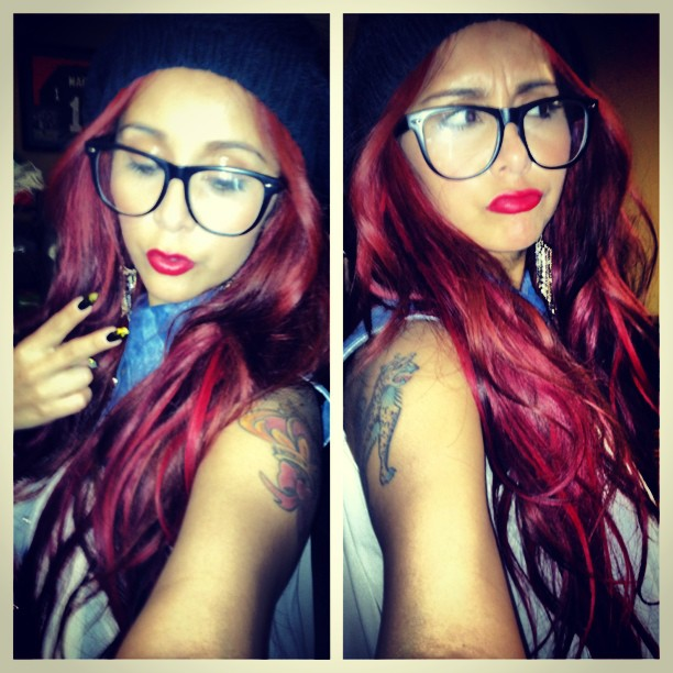 Snooki Shows Off Her Tattoos and Rocks Bright Pink Lipstick! (PHOTO)