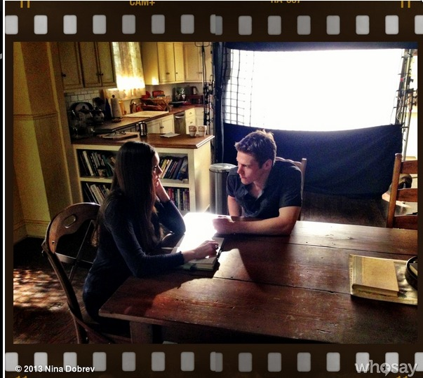 Vampire Diaries Season 4, Episode 15: Behind-the-Scenes Photo of Matt and Elena