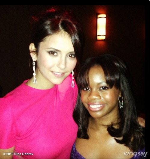 Nina Dobrev Is Reunited With Gabby Douglas at the SAG Awards: Vampire Diaries Cute Pic of the Day