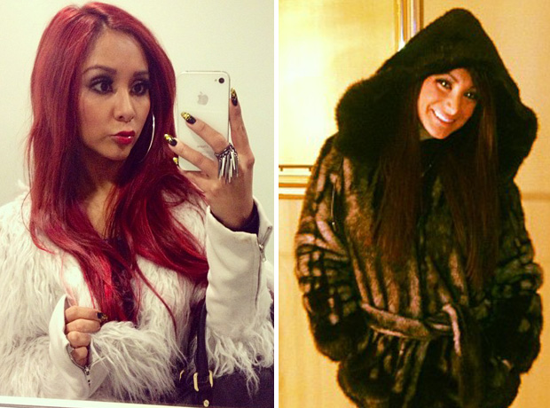 Snooki vs. Deena Nicole: Who Rocks Fur Better? (PHOTOS)