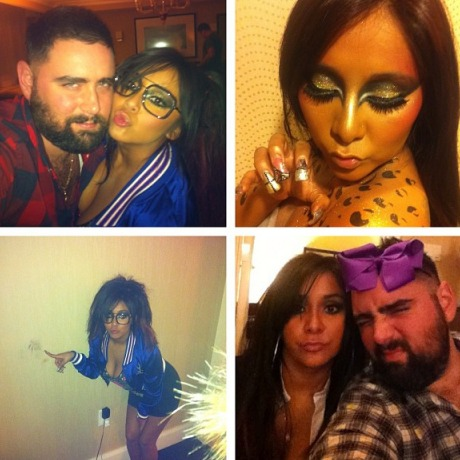 Snooki Is Nearly Unrecognizable Dressed as a Glittery Leopard! (PHOTOS)