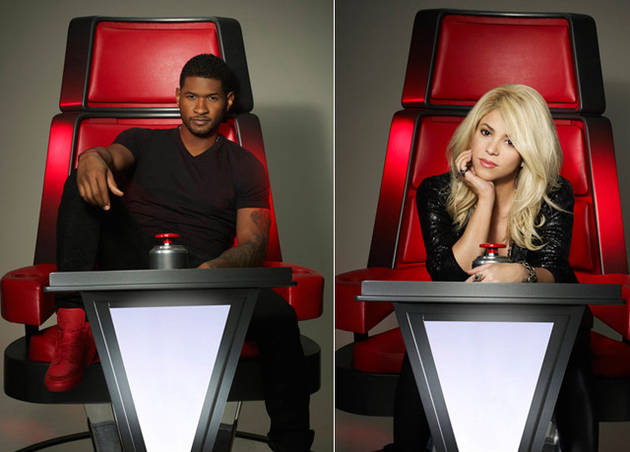 The Voice Season 4 First Look: Usher and Shakira Sit in Their Big Red Chairs! (PHOTOS)