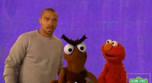 Jesse Williams Prepares For Fatherhood With Adorable Elmo Video on Sesame Street (VIDEO)