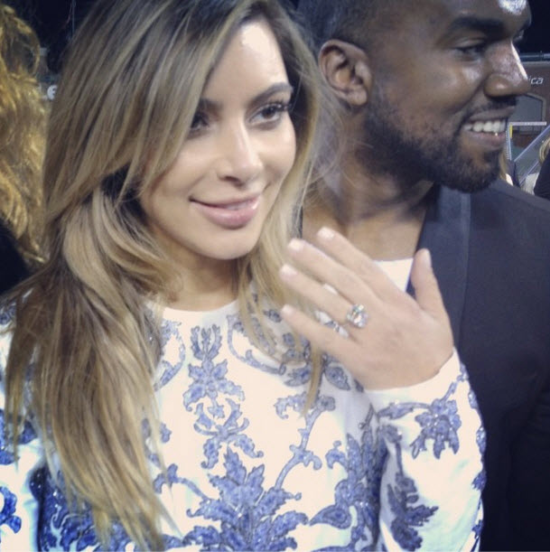 Kim Kardashian's Engagement Ring from Kanye West Cost How Much? — Exclusive