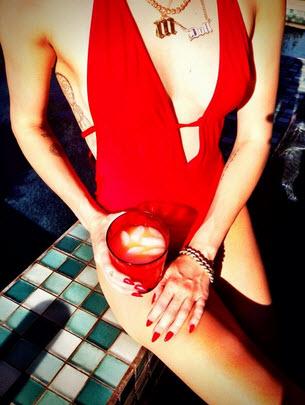 Miley Cyrus: Bears Sideboob and Tattoos in Racy Bathing Suit Photo