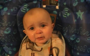 Baby Moved to Tears By Mother's Singing! (VIDEO)