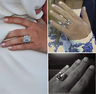 Kim Kardashian's Engagement Rings From Kanye West and Kris Humphries: Which Is Bigger?