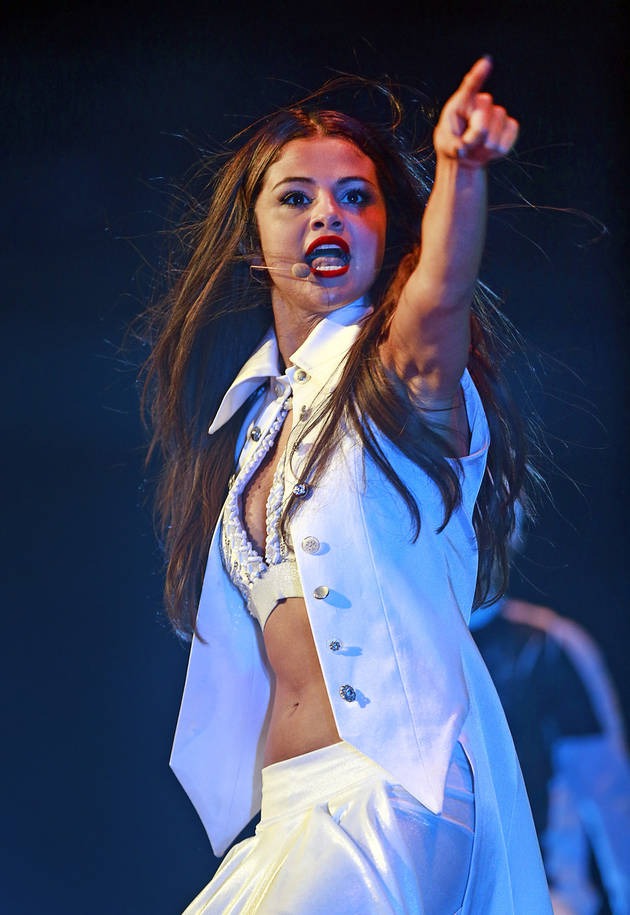 Selena Gomez Falls Off Stage in Concert — See the Scary Moment (VIDEO)