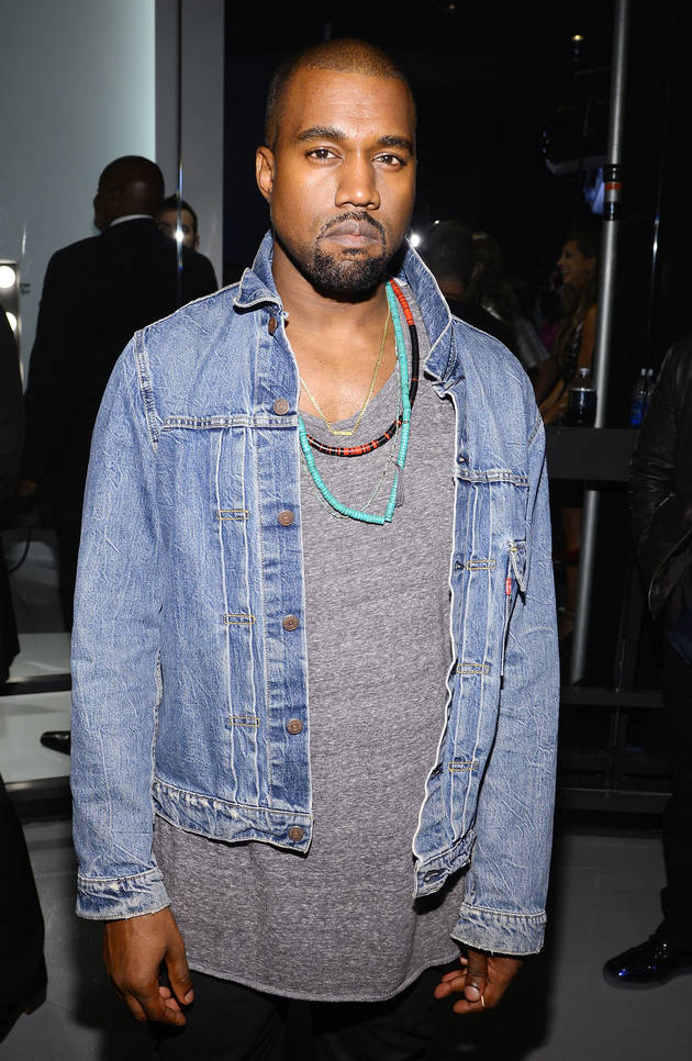 Kanye West Wears T-Shirt With Kim Kardashian's Nude Photo — See It!