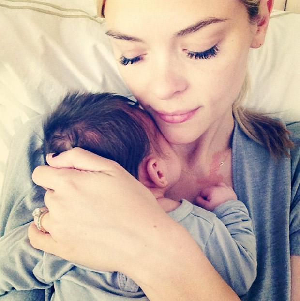 Jaime King Cuddles With Three-Week-Old Baby Boy, James Knight (PHOTOS)