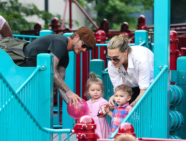 """Molly Sims on Bumping Into David Beckham at Playground: He Is """"Such a Good Dad"""""""