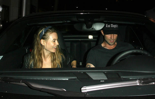 Adam Levine and Behati Prinsloo Go For a Romantic Date in Beverly Hills (PHOTOS)