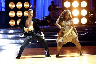 Dancing With the Stars 2013: Amber Riley and Derek Hough's Week 8 Rumba (VIDEO)