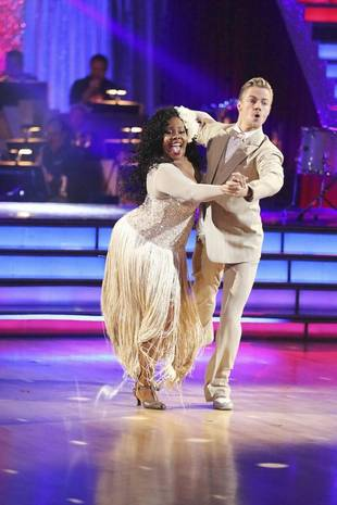 Amber Riley and Derek Hough Consult Docs About Knee Injury Before Dancing With the Stars