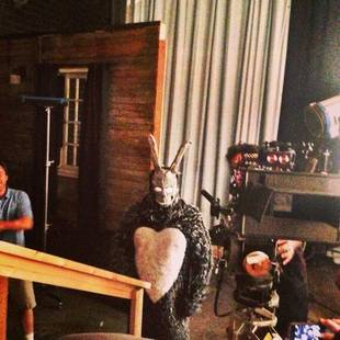 Paul Wesley Shows Off Donnie Darko Halloween Costume on Vampire Diaries Set! (PHOTO)