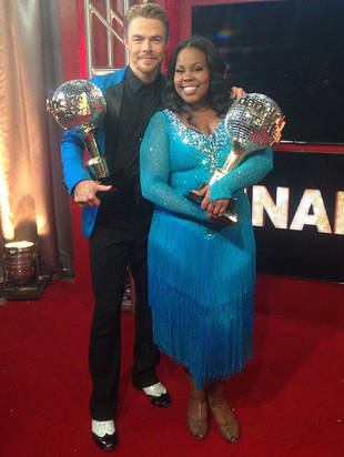 Watch: Amber Riley Wins DWTS 2013 — Her Reaction is Epic!