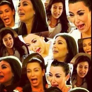 Khloe Kardashian Posts a Collage of Kim's Ugliest Cry Faces to Instagram (PHOTO)