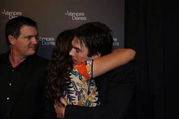 Nina Dobrev and Ian Somerhalder Embrace at Vampire Diaries 100th Episode Party (PHOTOS)