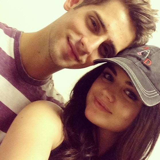 """Pretty Little Liars Star Lucy Hale """"Adores"""" Baby Daddy's Jean-Luc Bilodeau (PHOTO)"""