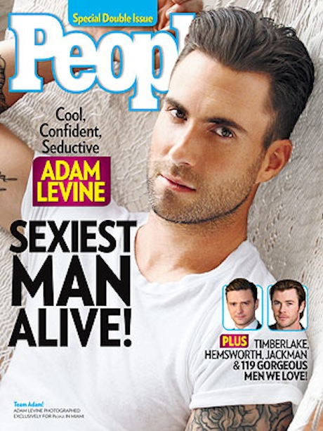 "Adam Levine Accepts ""Sexiest Man Alive"" Award, Thanks Ryan Gosling (VIDEO)"