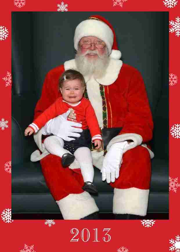 Bachelor Baby Riley Mesnick Meets Santa — and Starts Crying! (PHOTO)