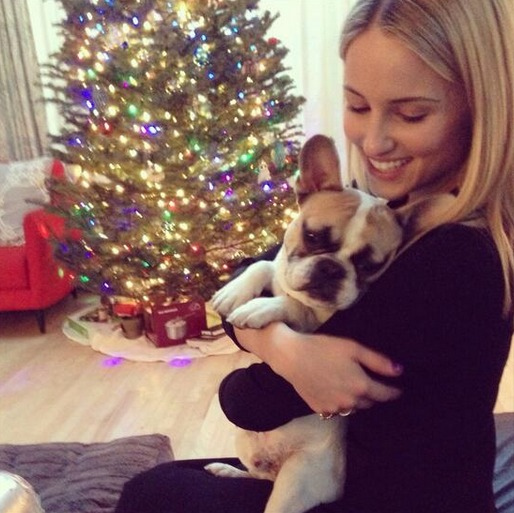 Glee's Dianna Agron Wishes You A Puppy-Filled Christmas (PHOTO)