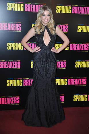 Ashley Benson Flashes Boob Window at Spring Breakers Paris Premiere (PHOTOS)
