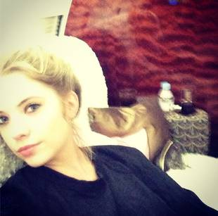 Ashley Benson's Spring Breakers Travels: Flying in Style (PHOTO)