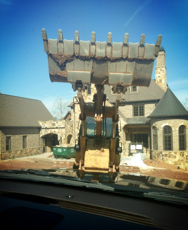 Kim Zolciak's New House Gets a Visit — From a Bulldozer!