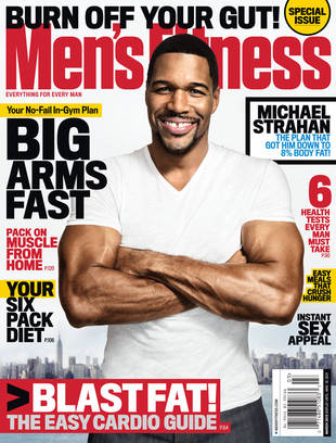 Michael Strahan Shows Off His Guns on the Cover of Men's Fitness