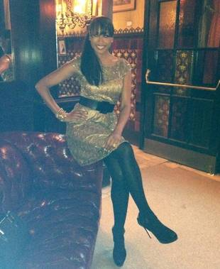 Cynthia Bailey Stuns in Gold For New York Fashion Week (PHOTO)