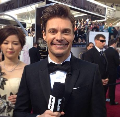 Ryan Seacrest Baby Bump Touching at the Oscars — Crossing the Line?